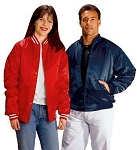 Cardinal Activewear quilt lined Satin Baseball Jacket