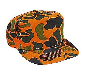 Camouflage Cotton Twill Low Crown Golf Style Cap; Style 659