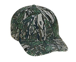 Camouflage Cotton Twill Low Profile Pro Style Cap; Style 669