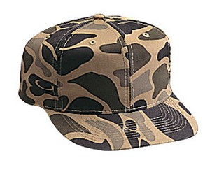 Camouflage Cotton Twill Regular Profile Pro Style Adjustable Cap, available in 15 color combinations (Tan/Brown Camo #529-1507 shown)
