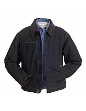 Dri-Duck Outlaw Canvas Jacket, shown in Black