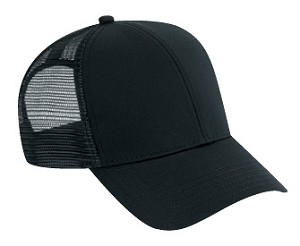 Washed Cotton Twill Low Profile Pro Style Mesh Back Cap, Style 634, available in 2 colors (634-003 Black shown)