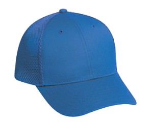 Deluxe Cotton Twill Low Profile Air Mesh Back Cap, Style 614-001, available in 8 colors (royal shown)