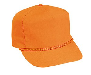 Neon Poplin 5-Panel Regular Profile Adjustable Golf Style Cap; Style 516NO-009