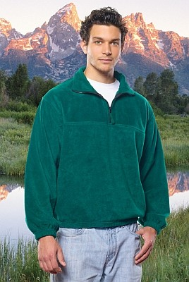 Sierra Pacific Poly-Fleece 1/4 Zip Pullover Jacket, shown in Forest Green