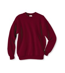 Style 224Y, Hanes Youth Sweatshirt, shown in maroon, available in adult and youth sizes (youth size shown)
